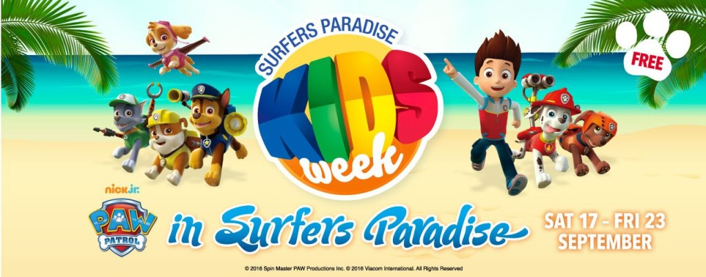 Surfers Paradise Kids Week festival on the beach front.
